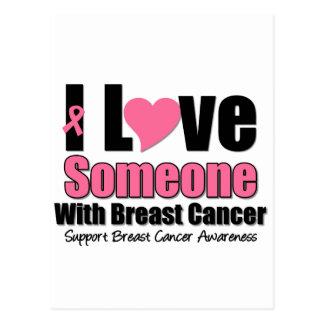 Amo alguien con el cáncer de pecho tarjeta postal