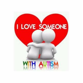 Amo alguien con el imán cortado autismo escultura fotografica