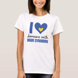 Amo alguien con la camiseta de Síndrome de Down