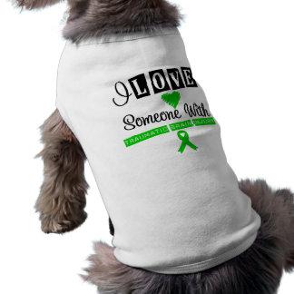 Amo alguien con la lesión cerebral traumática playera sin mangas para perro