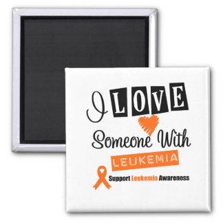 Amo alguien con leucemia imán cuadrado