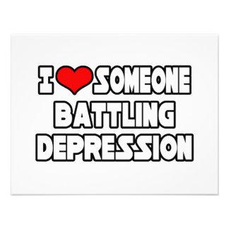 Amo alguien depresión de lucha invitaciones personalizada