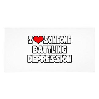 Amo alguien depresión de lucha tarjetas personales