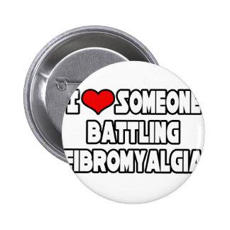 Amo alguien Fibromyalgia de lucha Pins