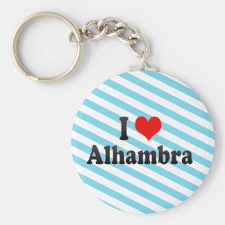 Amo Alhambra, Estados Unidos Llavero Redondo Tipo Pin