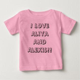 ¡Amo Aliya y a Alexis!! Playera De Bebé
