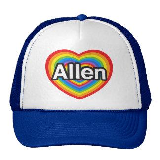 Amo Allen. Te amo Allen. Corazón Gorras De Camionero