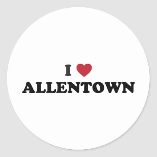 Amo Allentown Pennsylvania Pegatina Redonda