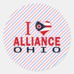 Amo Alliance, Ohio Etiqueta Redonda