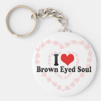Amo alma observada Brown Llaveros Personalizados