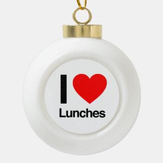 amo almuerzos adorno