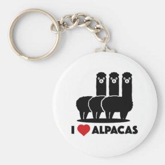 Amo alpacas llavero redondo tipo pin