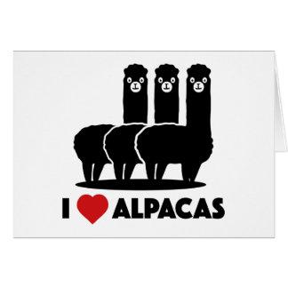 Amo alpacas tarjeta de felicitación