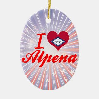 Amo Alpena, Arkansas Adorno Ovalado De Cerámica