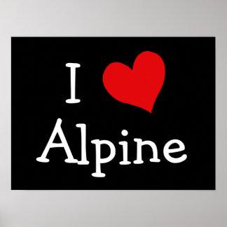Amo alpino póster