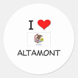 Amo ALTAMONT Illinois Pegatina