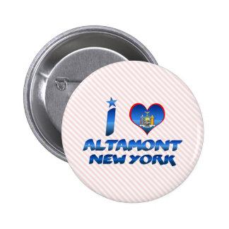 Amo Altamont, Nueva York Pin Redondo De 2 Pulgadas