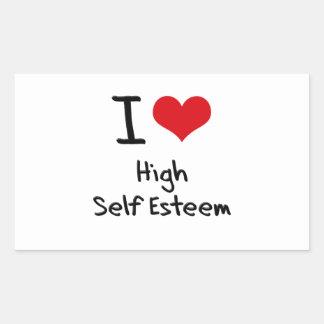 Amo alto amor propio pegatina rectangular