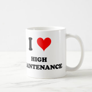 Amo alto mantenimiento taza de café