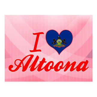 Amo Altoona, Pennsylvania Tarjeta Postal