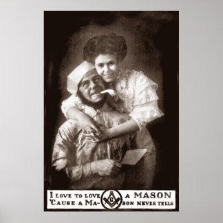 Amo amar a un albañil, 1908 póster