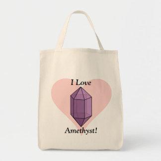 ¡Amo amatista! Bolsa Tela Para La Compra