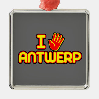 Amo Amberes (la mano) Ornamentos De Navidad