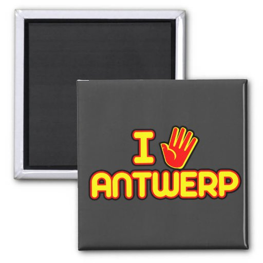 Amo Amberes (la mano) Imán De Frigorifico