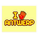 Amo Amberes (la mano) Tarjeta Postal