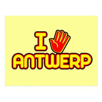 Amo Amberes (la mano) Tarjetas Postales