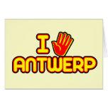 Amo Amberes (la mano) Tarjetón