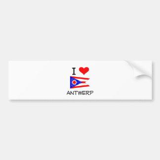 Amo Amberes Ohio Etiqueta De Parachoque