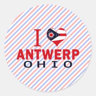 Amo Amberes Ohio Etiquetas