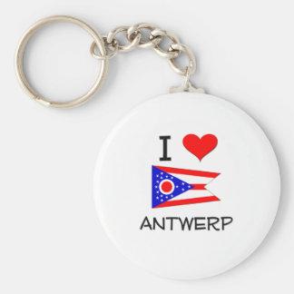 Amo Amberes Ohio Llavero Redondo Tipo Pin