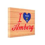 Amo Amberg, Wisconsin Lona Envuelta Para Galerias
