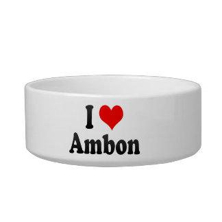 Amo Ambon, Indonesia. I Cinta Ambon, Indonesia Tazones Para Comida Para Gato