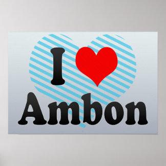 Amo Ambon, Indonesia. I Cinta Ambon, Indonesia Posters