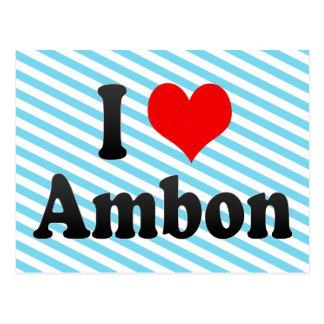 Amo Ambon, Indonesia. I Cinta Ambon, Indonesia Tarjeta Postal