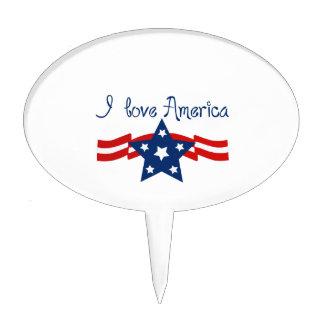 Amo América Figura De Tarta