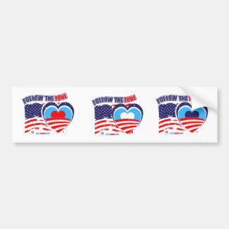 Amo América - ahora elija a Obama Etiqueta De Parachoque