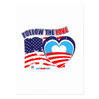 Amo América - ahora elija a Obama Postal