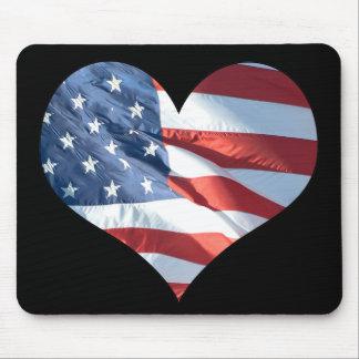 Amo América - bandera americana en forma de Alfombrilla De Ratón