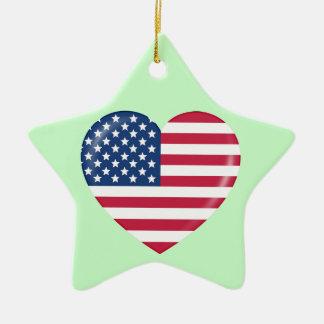 Amo América - corazón del americano patriótico Ornato