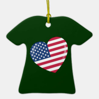 Amo América - corazón del americano patriótico Ornamente De Reyes