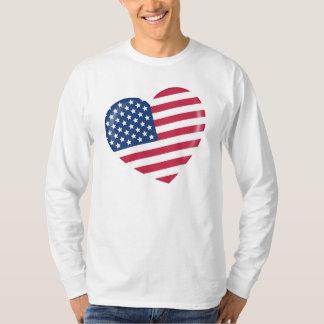 Amo América - corazón del americano patriótico Poleras