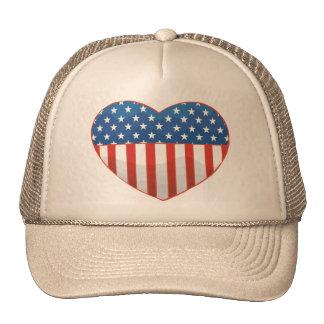Amo América - Estados Unidos señalan el corazón po Gorras De Camionero