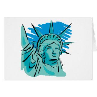 Amo América - estatua de la libertad Nueva York lo Felicitaciones
