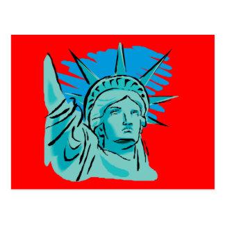 Amo América - estatua de la libertad Nueva York lo Postales