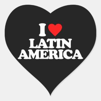 AMO AMÉRICA LATINA PEGATINA EN FORMA DE CORAZÓN