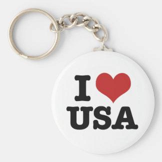 Amo América Llavero Redondo Tipo Pin